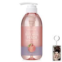 Sữa tắm hương đào Welcos Around Me Body Wash Peach Hàn Quốc 500ml Tặng Móc khóa