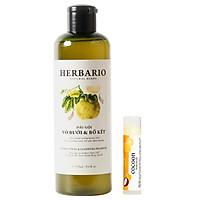 Dầu gội bưởi & Bồ Kết Harbario giảm rụng tóc, phục hồi tóc 270ml [Tặng 1 son]