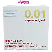 Bao cao su Sagami Original Siêu Mỏng 0,01 mm Hộp 1 Chiếc Nhật Bản