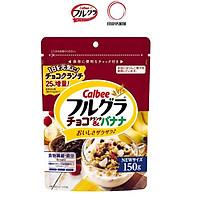 Gói 150 gram Ngũ cốc Calbee Socola Chuối Nhật Bản