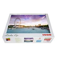 Bộ tranh xếp hình jigsaw puzzle cao cấp 1500 mảnh – London Eye (60x100cm)