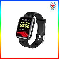 Đồng hồ thông minh Smart Watch 116 Plus chống nước theo dõi vận động hỗ trợ theo dõi sức khỏe - Đen