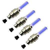 Bộ 4 đèn LED trang trí gắn van bánh xe máy ô tô tiện ích 1TI31-2 (xanh dương)