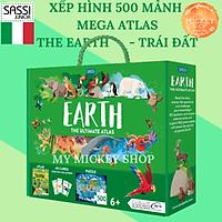 Bộ trò chơi xếp hình 500 mảnh chủ đề TRÁI ĐẤT - The EARTH chính hãng Sassi Ý