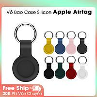 Vỏ Ốp Case Silicon Dẻo Nhiều Màu Kèm Móc Hở 1 Mặt Bảo Vệ Airtag, Apple Airtag - thiết bị định vị, chống trộm - Hàng Chính Hãng