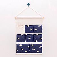 Túi vải treo tường 7 ngăn sáng tạo, tiết kiệm không gian sống size (50x35cm)