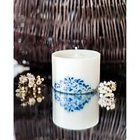 Nến thơm sáp đậu nành cao cấp khảm đá tự nhiên, mùi hương dịu dàng của tinh dầu hoa nhài, và bạc hà