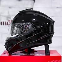 Mũ bảo hiểm Yohe 981 đen bóng 2 kính