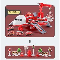 Bộ đồ chơi máy bay biến dạng, tặng kèm 4 oto hợp kim