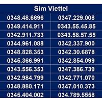 Sim số đẹp Viettel - Số dễ nhớ, thần tài, số cặp - Chọn Số Theo List DS01 - Đăng ký đúng chủ