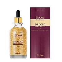 Tinh chất vàng đậm đặc giúp trẻ hoá da Coreana Biocos 24K Gold Energy Ampoule (Pure Gold) 100ml