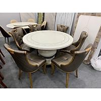 Bộ bàn ăn tròn mặt đá nhập khẩu cao cấp TD189 1M3 6 ghế