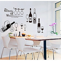 Decal dán tường (A bottle of wine) AmyShop DKN102 ( 70 x 150 cm)
