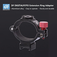 DF DIGITALFOTO ANT Extension Adapter Ring Clip Clamp Bracket with Hot Shoe 1/4 Inch Screw Hole for Mounting Microphone