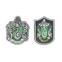 Set 2 sticker ủi áo huy hiệu Harry Potter