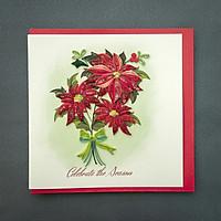 Thiệp Giấy Xoắn Giáng Sinh 15x15 cm - NOEL28GIAAN