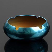 Gạt Tàn Thuốc Lá Inox Cao Cấp - Màu Xanh 11cm