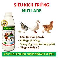 Siêu Kích Trứng cho gà, vịt, cút đẻ NUTIPLEX ADE. Kéo dài chu kỳ đẻ. Trứng đẹp, vỏ dầy, tăng phôi, tăng tỷ lệ ấp nở