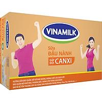 Thùng 48 Hộp Sữa Đậu Nành Vinamilk Gấp Đôi Canxi Có Đường (200ml)