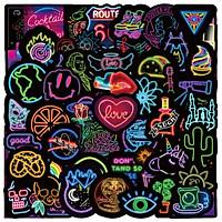 Bộ 50 miếng Sticker hình dán Neon Stub SetB