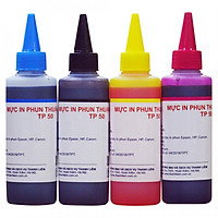 Bộ 4 Màu Mực in phun Thuận Phong TP50 (100ml) dùng cho máy in phun Epson, HP, Canon - Hàng Chính Hãng