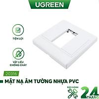 Mặt nạ âm tường VGA, AV, HDMI nhựa PVC màu trắng UGREEN 20316 - Hàng Nhập Khẩu