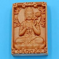 Mặt Phật gỗ ngọc am Đại thế chí bồ tát PBMMG18 - Phật hộ mệnh tuổi Ngọ