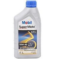 Nhớt Xe Số 4T Mobil Super Moto 10W-40  Tiêu Chuẩn JASO MA2 API SL (1L) - Hàng Chính Hãng