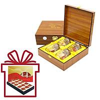 Yến Sào Song Việt – Combo hộp gỗ 4 phần yến và hộp giấy 15 phần yến khô