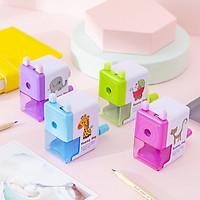 Gọt bút chì xoay nhiều màu sắc in hình ngộ nghĩnh siêu cute