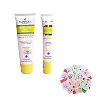Floslek - Bộ 2 Kem kiềm dầu, điều tiết nhờn Mattifying Cream 50ml + gel chấm mụn viêm sưng Bacterial Intense 20ml Tăng 2 mặt nạ Dermal bất kỳ
