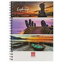 Sổ Lò Xo Notebook, Cool A4 (200 Trang) - 4145 - Mẫu 4 - Vietnam Exploring - Da Nang