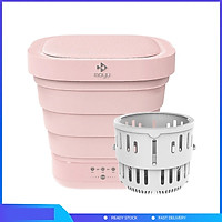 Máy giặt Xiaomi Youpin Moyu XPB08-F2, máy giặt mini gấp di động 2 trong 1, thích hợp cho gia đình và du lịch, thao tác giặt và sấy chỉ với một nút bấm