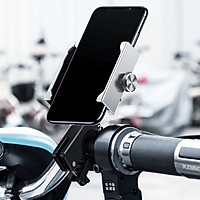 Giá đỡ đế giữ điện thoại hiệu Baseus Knight Motocycle bikecho xe mô tô / xe đạp / xe máy (Chốt kẹp chắc chắn, phù hợp với nhiều dòng máy và xe) - Hàng nhập khẩu