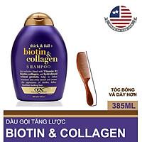 Dầu Gội OGX Biotin & Collagen Think Full 385ml + LƯỢC