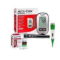Máy Đo Đường Huyết Accu-chek Peforma mmol/L + Tặng nhiệt kế điện tử đầu mêm gia đình