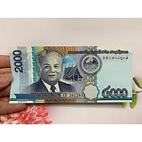 Tiền xưa 2000 Kip Lào sưu tầm -  tặng phơi nylon bảo quản tiền