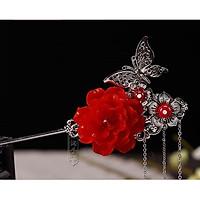 Trâm cổ trang điệp và hoa cài tóc nữ phong cách cổ đại cosplay nữ tính thời trang quà tặng xinh xắn dễ thương