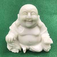 Tượng Phật Di Lặc Ngồi Non Nước DSF-HS65 Bằng Đá Cẩm Thạch Tự Nhiên Nguyên Khối - mang lại May Mắn, Tài Lộc - nhỏ gọn, để bàn, đặt ở ô tô, trang trí phòng làm việc - Hàng đá mỹ nghệ truyền thống