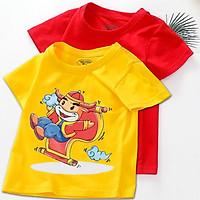 Combo 2 áo tết cho bé trai, bé gái ( 6kg - 28kg ) | đồ tết cho bé trai, bé gái 2021 | quần áo trẻ em tết Tân Sửu | áo thun tết