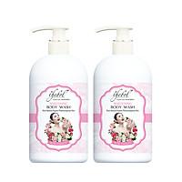 Sữa tắm dưỡng ẩm trắng da Thebol tinh dầu thơm, thảo dược Hoa Hồng 338g(Combo 2 chai)