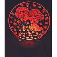 Đèn trang trí tình yêu FOREVER LOVE 16 màu  - Quà tặng đáng yêu LL03