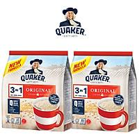 Combo 2 Thức Uống Yến Mạch Quaker 3in1 Vị Truyền Thống 420g