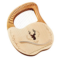 Cega 21 Metal Strings Lyre Harp Box Lyre Harp Spruce Topboard Mahogany Backboard String Instrument with Tuning Wrench