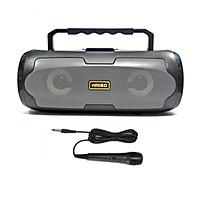 Loa karaoke mini KIMISO KM-S6 âm thanh stereo - tích hợp jack cắm 6.5mm + kèm micro có dây (màu ngẫu nhiên) HÀNG CHÍNH HÃNG