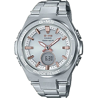 Đồng Hồ Nữ Casio Baby G MSG-S200D-7ADR Dây Kim Loại - Pin Năng Lượng - Chống Nước 100m