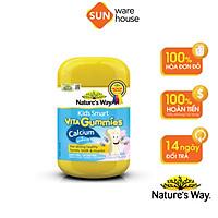 Kẹo Dẻo Canxi Cho Bé Nature's Way Kids Smart Vita Gummies Calcium + Vitamin D Lọ 60 Viên