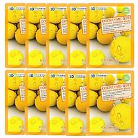 Bộ 10 Gói Mặt Nạ Trẻ Hóa Da 3D Foodaholic Coenzyme Q10 Natural Essence Mask 23ml x10