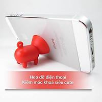 Heo đỡ điện thoại kiêm móc khoá siêu dễ thương