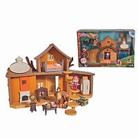 Đồ Chơi Ngôi Nhà Gấu MASHA AND THE BEAR Masha Play Set ''Big Bear House'' 109301032 - Đồ Chơi Chính Hãng